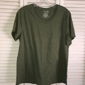 Time and Tru Olive Green T Shirt